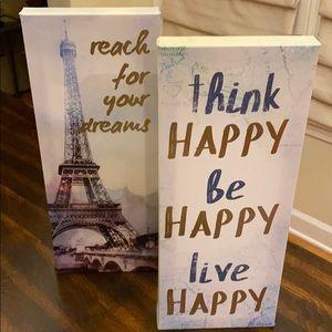 2 PC BUNDLE: Motivational Decor Paris Travel Theme